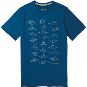 Smartwool Merino Sport 150 Prominent Peaks Tee Herr alpine blue